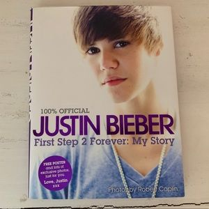Other - justin bieber book first step 2 forever